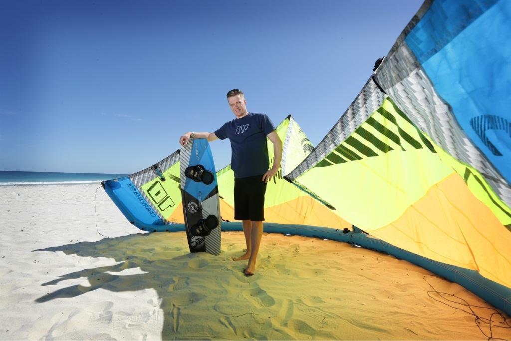 Kiteboarder Daniel van der Sluys. Picture: Will Russell    d446477