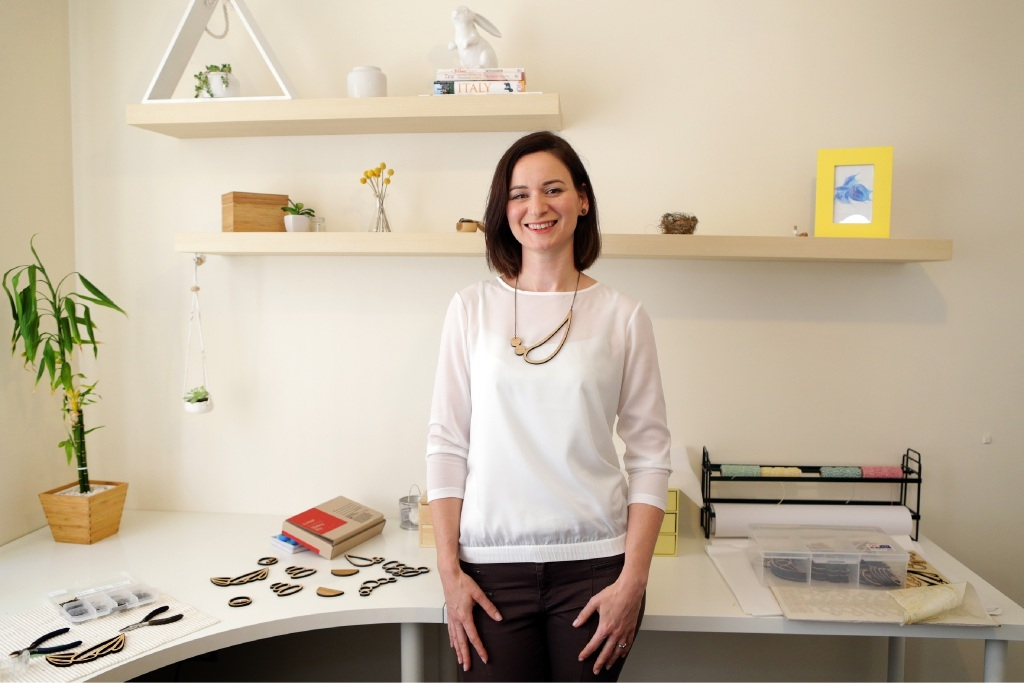 One Happy Leaf owner and designer Anna Anagno found her niche in jewellery design.  Picture: Martin Kennealey    d446922