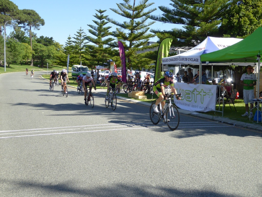 Tim James and Brendan Atkinson in the C Grade open field.