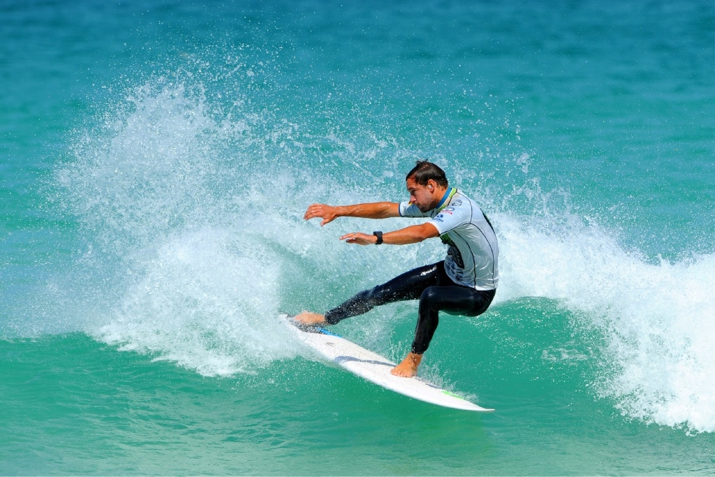 Zac Alexander in action.Mandurah Boardriders claimed second place.
