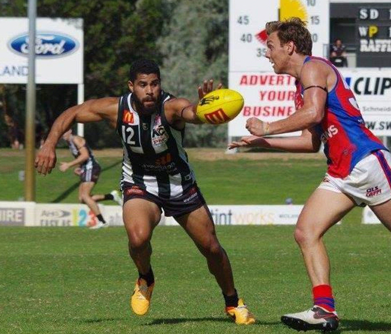 Rudy Riddoch against West Perth last year. Picture: Belinda Taylor