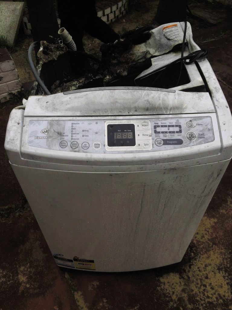 This Samsung washing machine caught fire in Parmelia in August