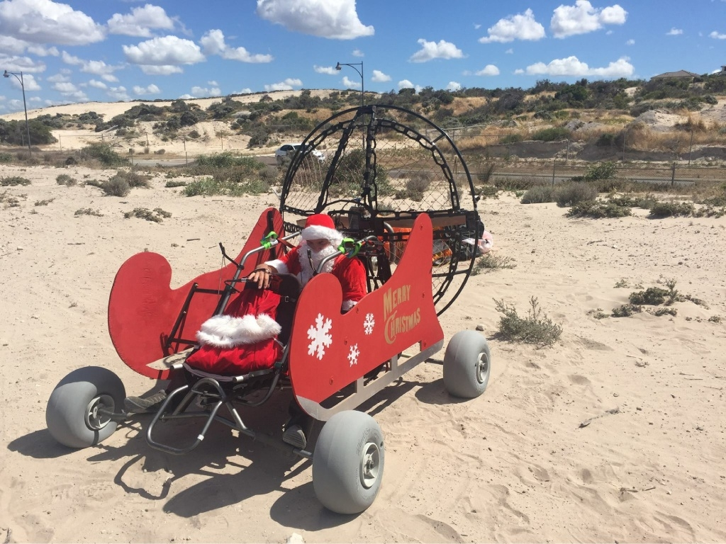 Santa hopes to fly a powered parachute to Jindalee this Saturday.
