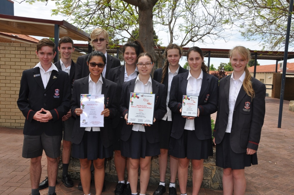 The winning Kingsway Christian College Year 11 team, who wrote Once Upon a Wine.