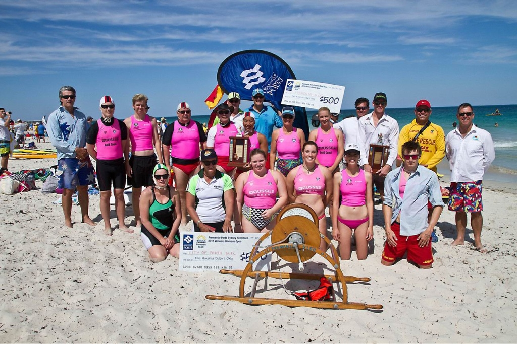 Winners from Sorrento and City of Perth Surf Life Saving Club.