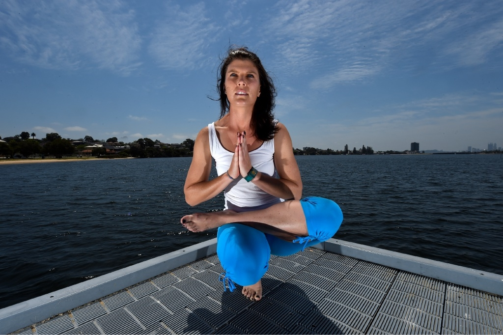 A stretch out of her comfort zone: Wandi resident Holly Ord has left her career in finance to open a yoga studio.
