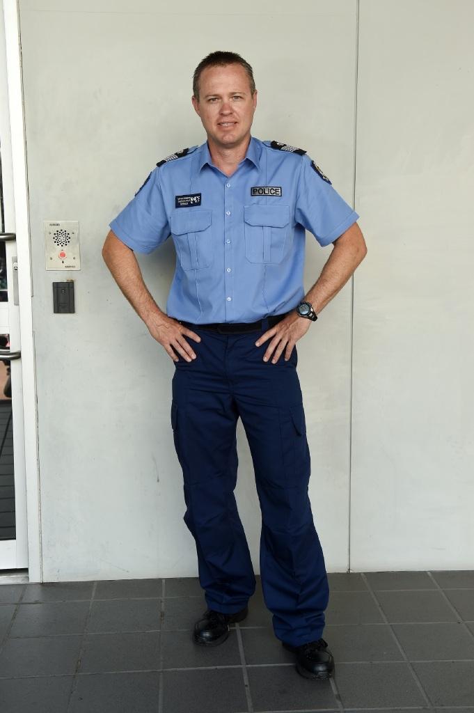 Acting Senior Sergeant Nathan Trenberth.|Picture: Jon Hewson www.communitypix.com.au d446603