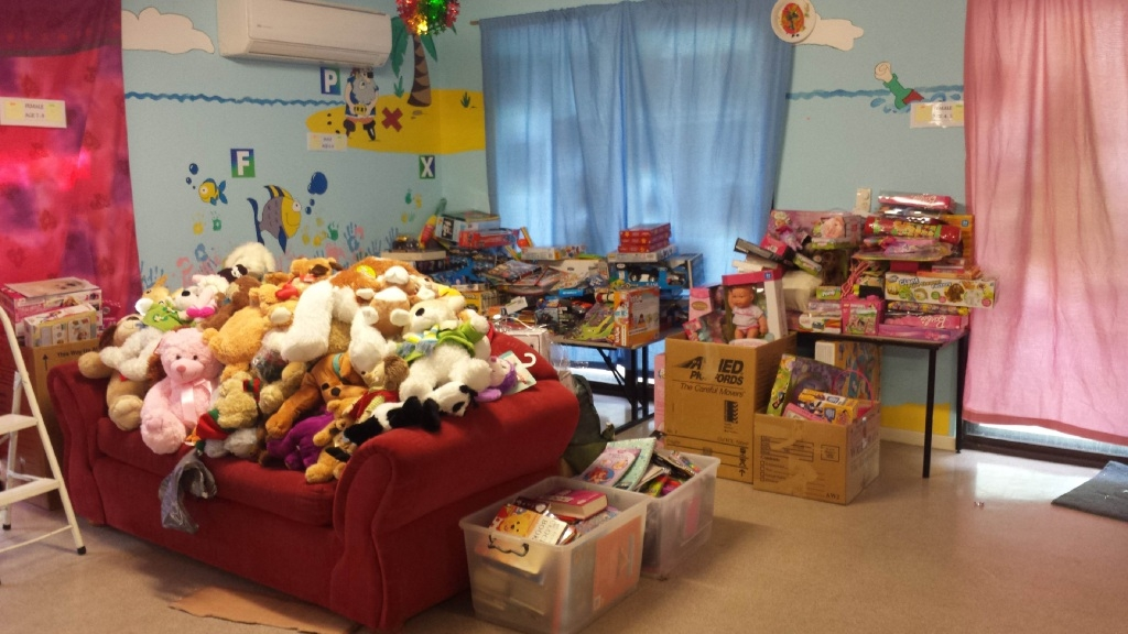 Gifts collected from the Spiers Centre's appeal last year.