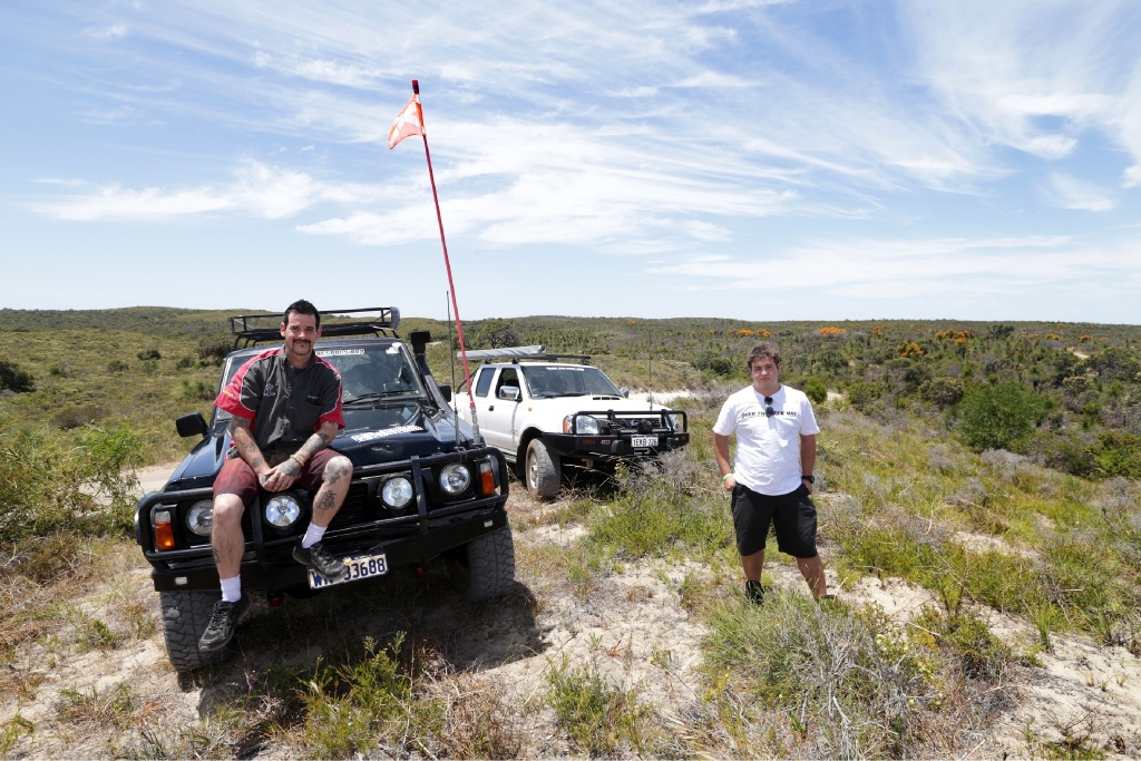 4WD enthusiasts Mark Petruzio and Jake Elwood.Picture: Martin Kennealey        www.communitypix.com.au   d446774
