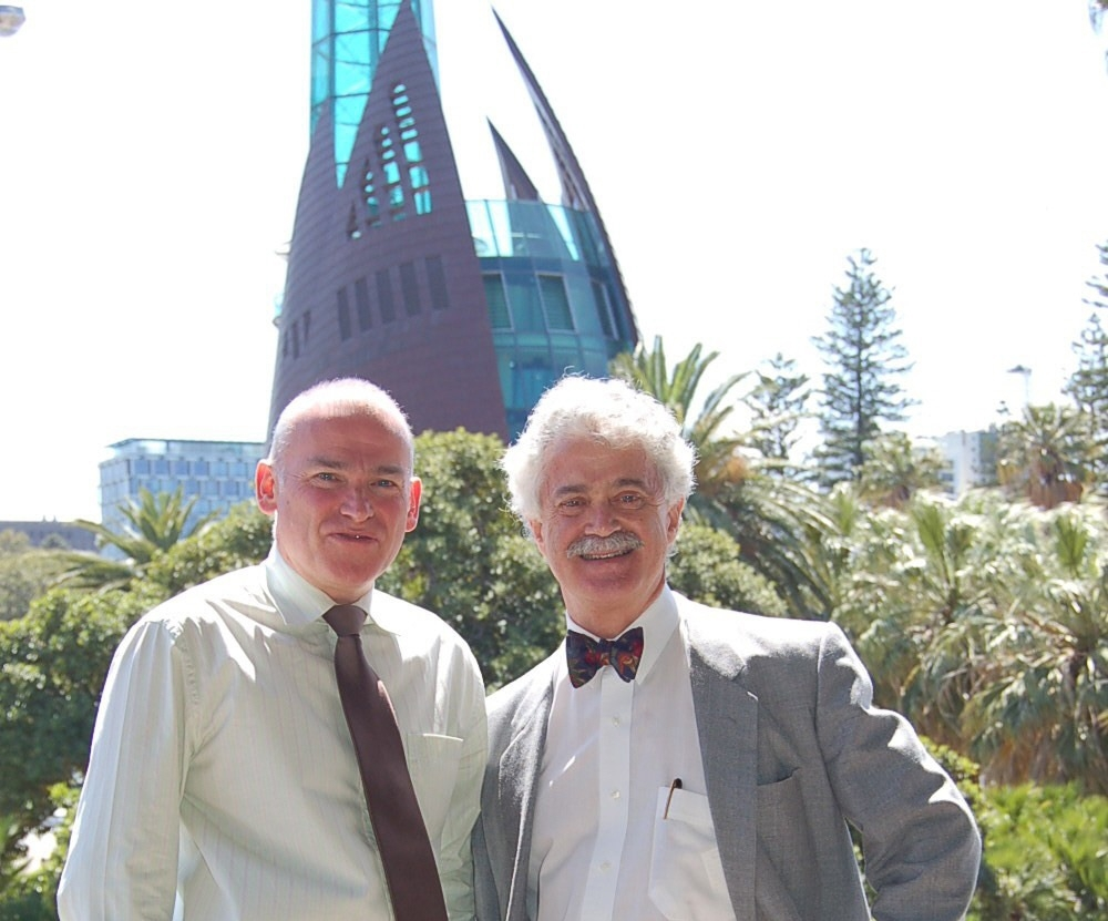 Dr McLeod (right) with Richard Offen, deputy chair of the Swan Bells Foundation and also a bell ringer.