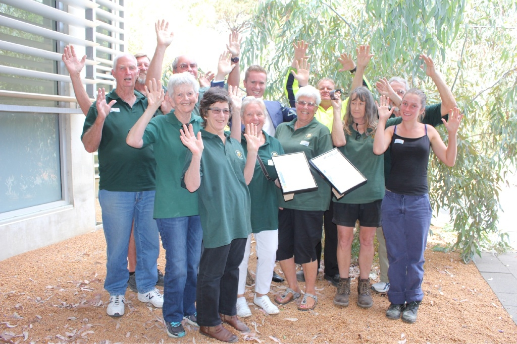 Yanchep National Park volunteers received an outstanding service award