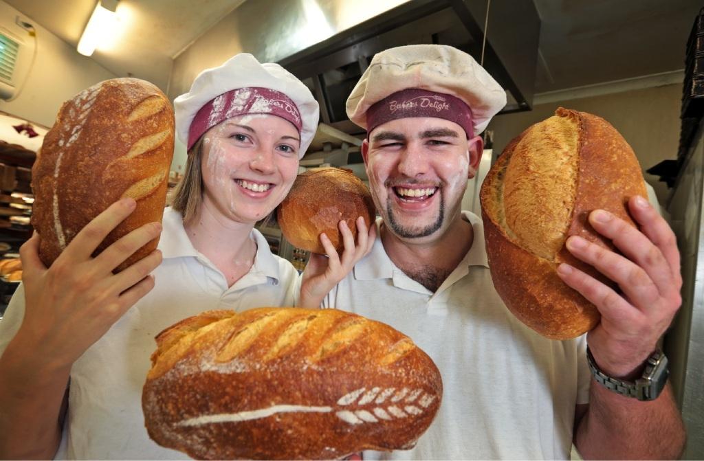 Award-winning bakers Danielle Markich and Kieran Meier.Picture: David Baylis www.communitypix.com.au   d447338
