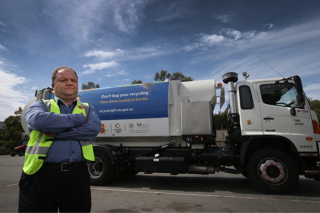 Waste Collection co-ordinator Mickey Danilov. Picture: Andrew Ritchie           d447329