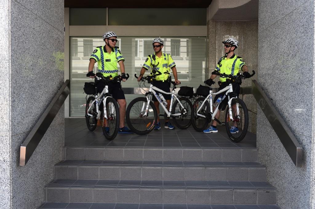 Constables Blair McIntosh, Matt Silvester and Leon Cronshaw. Picture: Jon Hewson    d446603