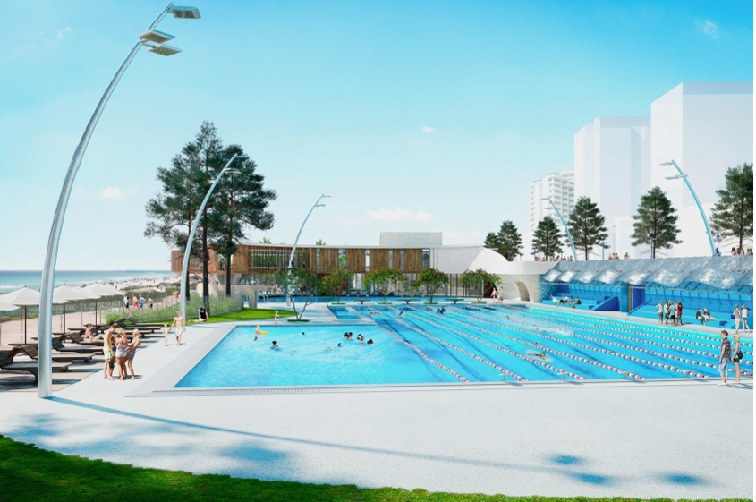 The planned Scarborough Beach Pool.            Picture: Greg Lewis