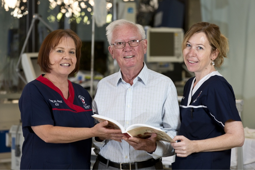 Clinical nurse Ann-Marie Bjelanovic, Dr Geoff Clarke and registered nurse Lisa Beahan.