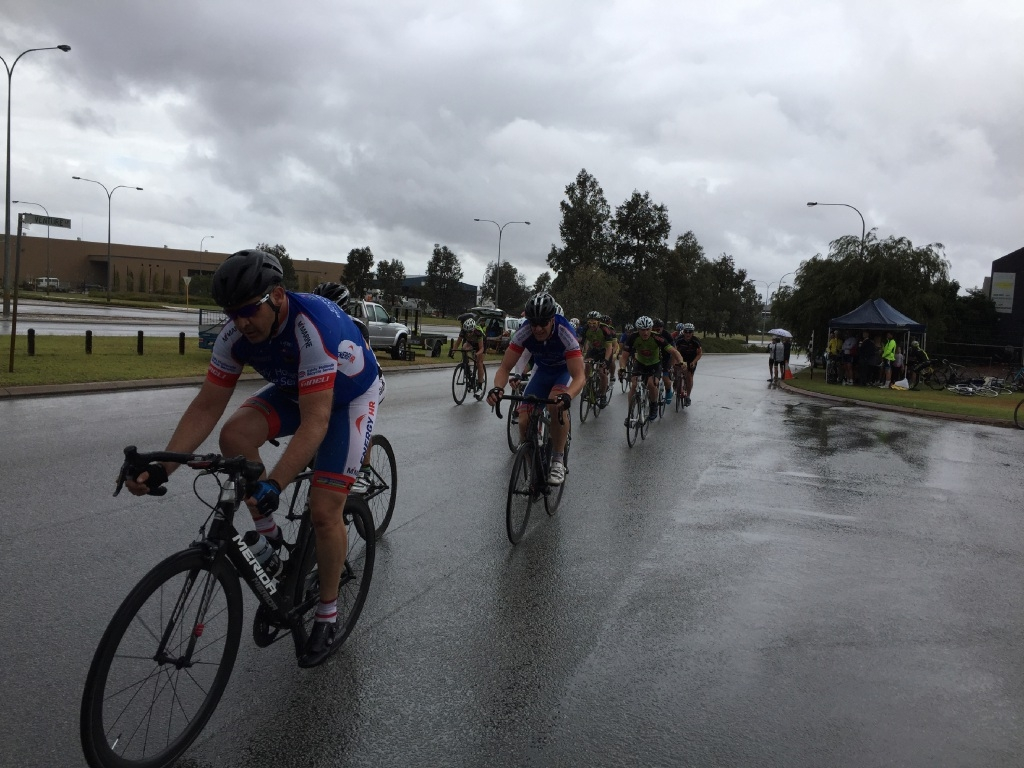 Cyclists weather the storm