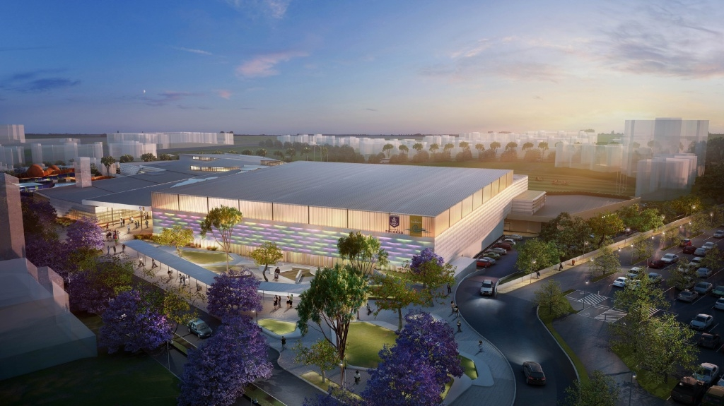 An artist's impression of the $109m recreation centre.