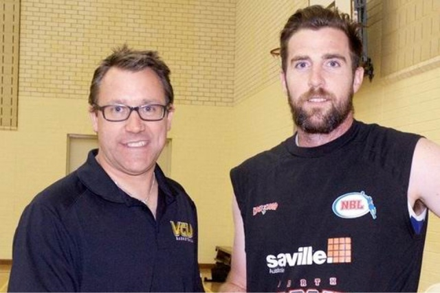 Kalamunda Eastern Suns coach Michael Clarke welcomes new player signing Jarrad Prior.