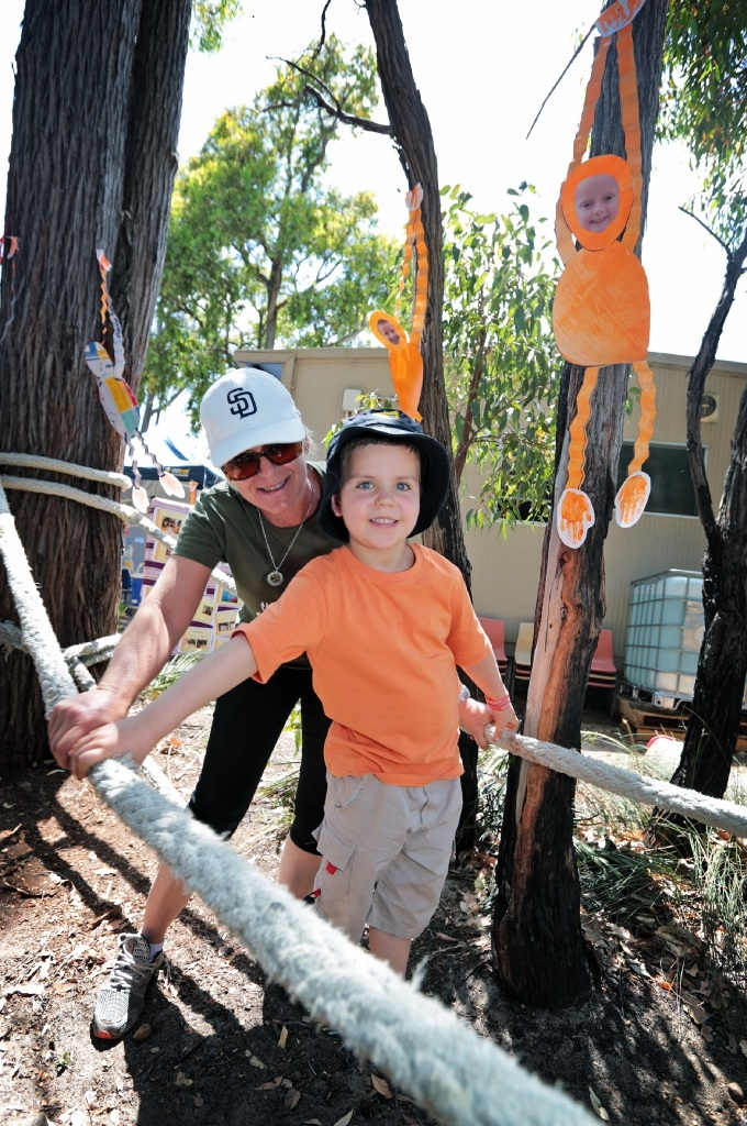Habitat just right for monkey fun. New playground: Parkerville Primary