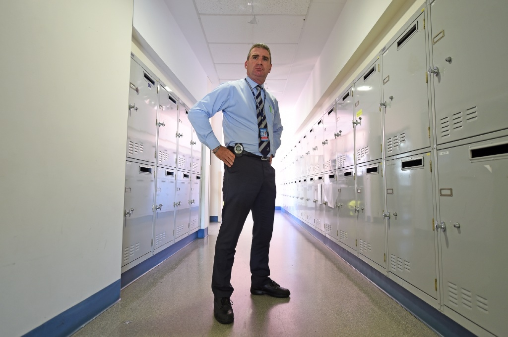 Detective Senior Sergeant Tom Tristram has welcomed the challenge of leading a team of 50 detectives. Picture: Jon Hewson  www.communitypix.com.au d447701