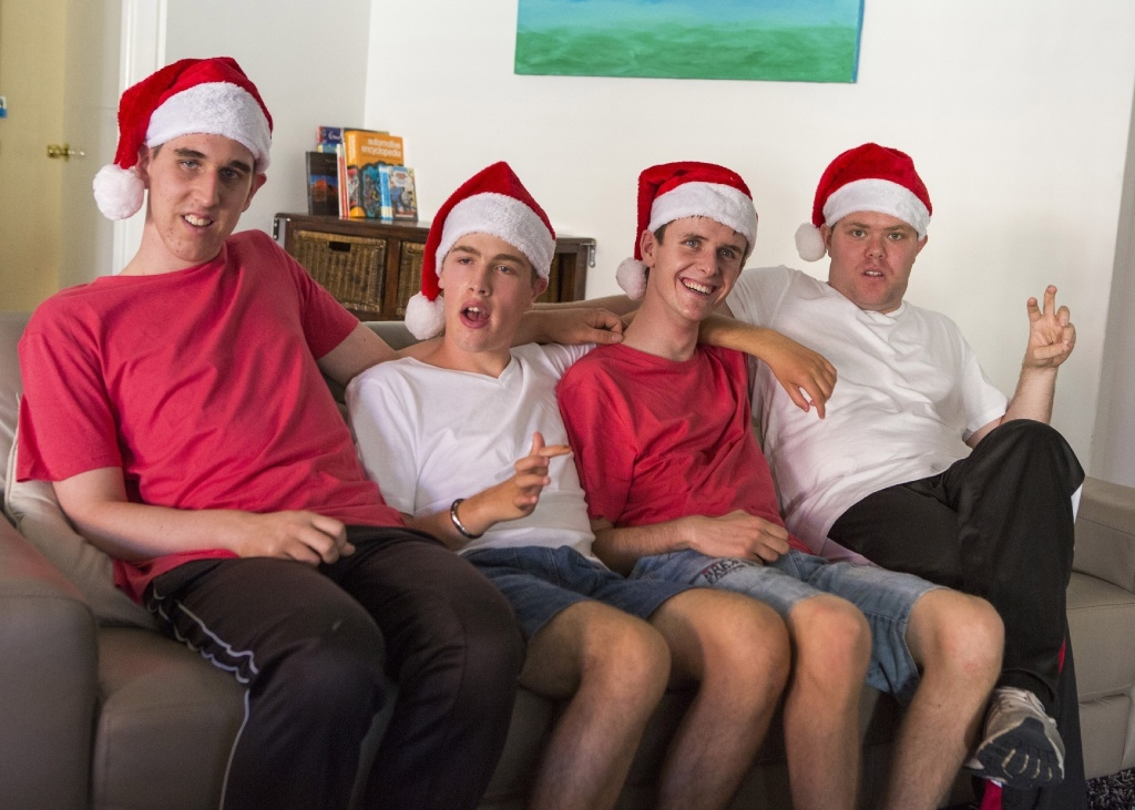 Cayle, Daniel, Lewin and Stass prepare for Christmas together as housemates at their Beechboro home.