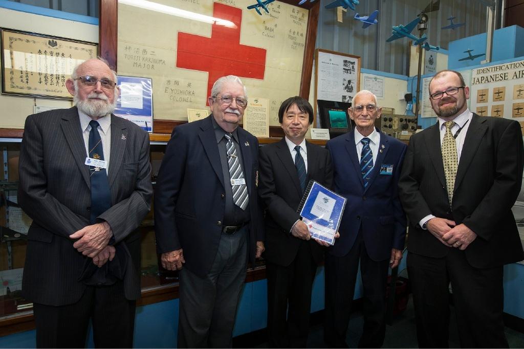 Ron Onions, David Peet, Japanese Consul-General Masanobu Yoshii, Charles Cugley and Richard Talbot.  Picture: Will Russell www.communitypix.com.au   d447441