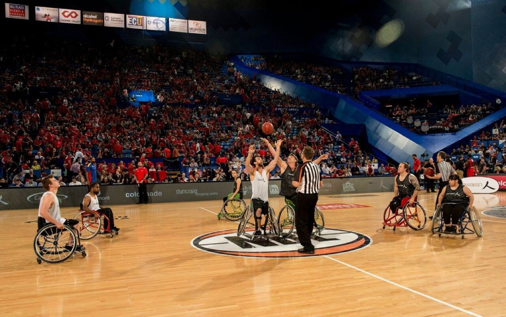 Red Dust Heelers played at halftime of the recent Wildcats-36ers match.