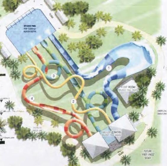 A design of some of the new slides proposed for Outback Splash.