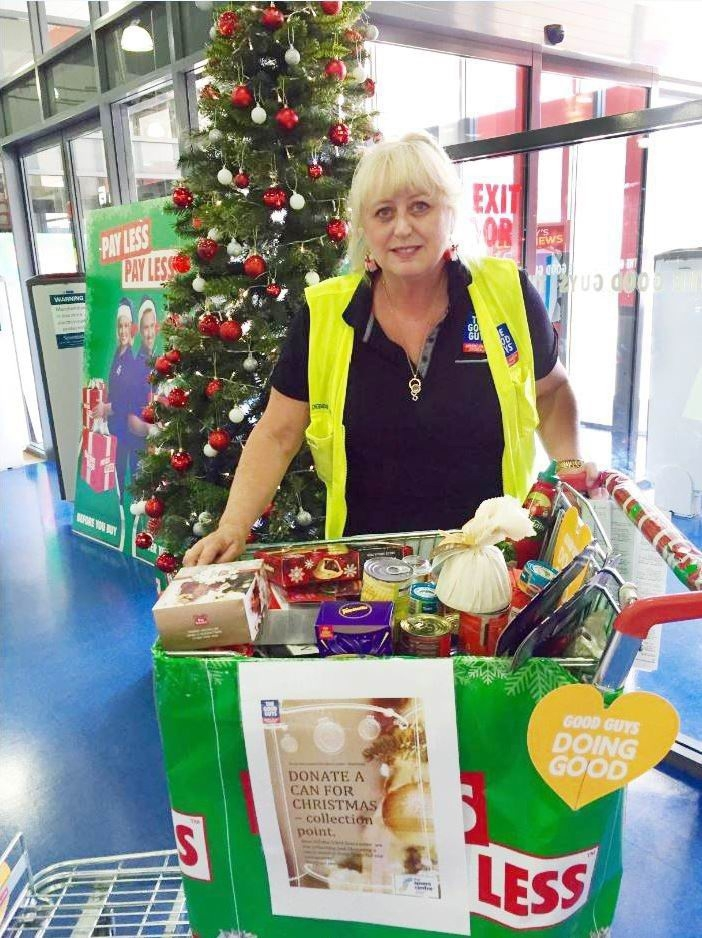 The Good Guys Joondalup owner Debbie Lanario with donations for The Spiers Centre's Christmas appeal.