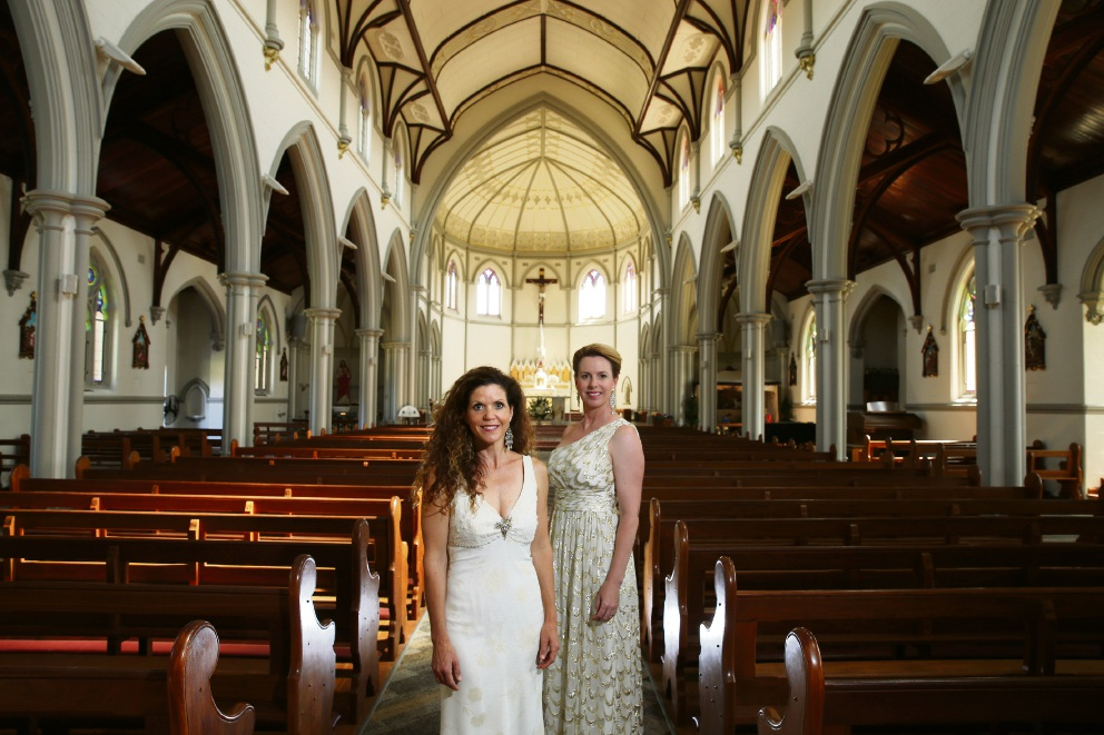 Sara Macliver and Fiona Campbell at St Joseph's Subiaco. Picture: Andrew Ritchie d447636