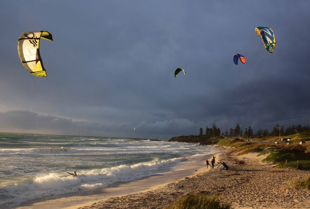 Under the council proposal, kitesurfing and windsurfing would be moved from the narrow beach at the Telephone Box surf break.