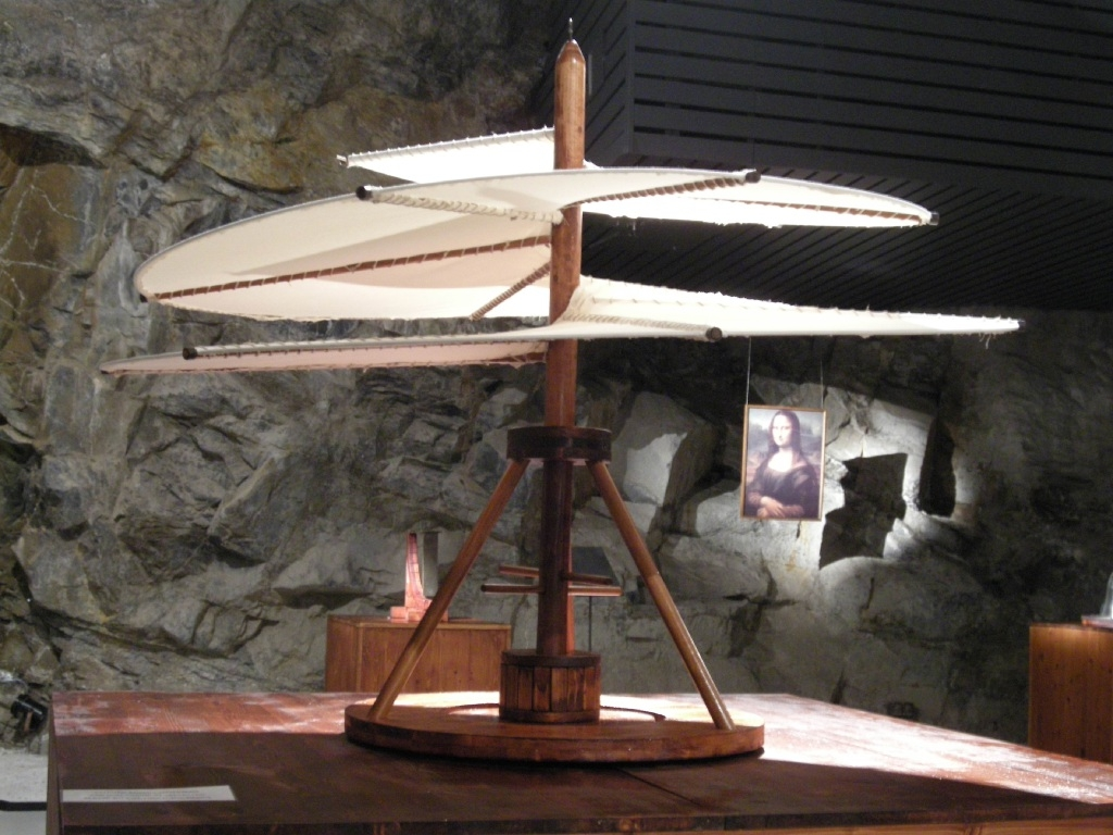 Artisan's recreation of Leonardo da Vinci's Air screw.        Picture: WA Museum