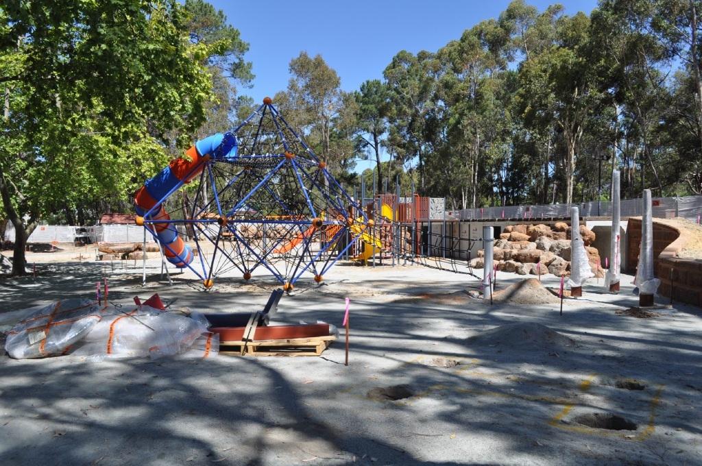 The $1.06 million Mundaring Community Sculpture Park play zone.