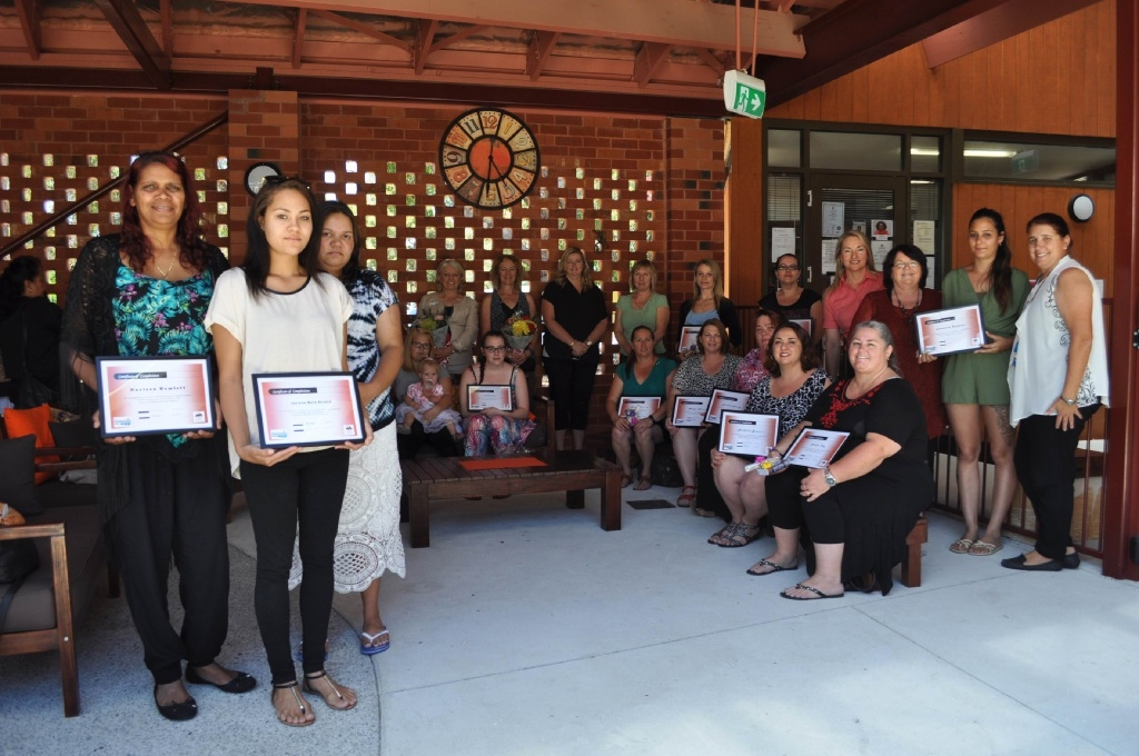 Some of the women who  graduated from the Adult Education Study programs.