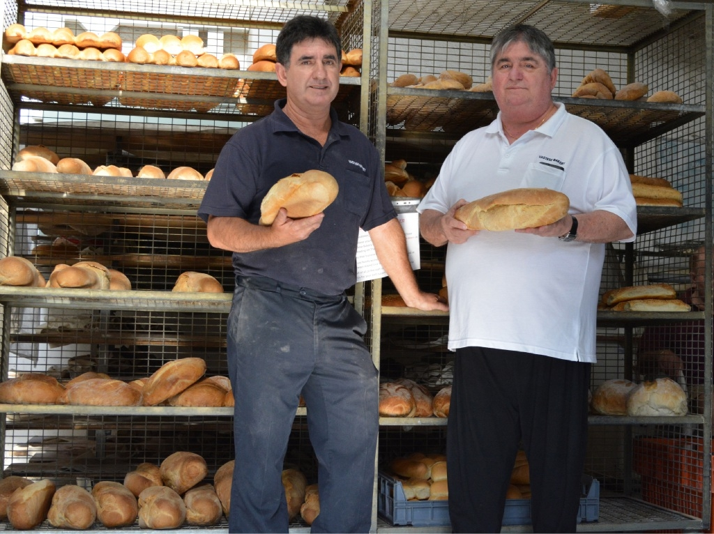 Lou (left) and Tony Saraceni will switch off their ovens at Vastese Bakery in North Perth this week.Picture: Sophie Gabrielle