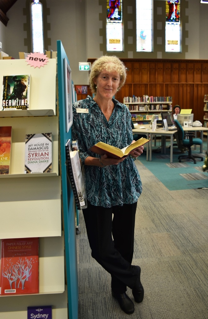 Kathy McQuillan has worked at Claremont library for 27 years.