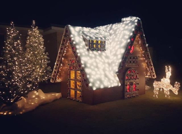 Melissa Armstrong took two months to design and build this Christmas display.
