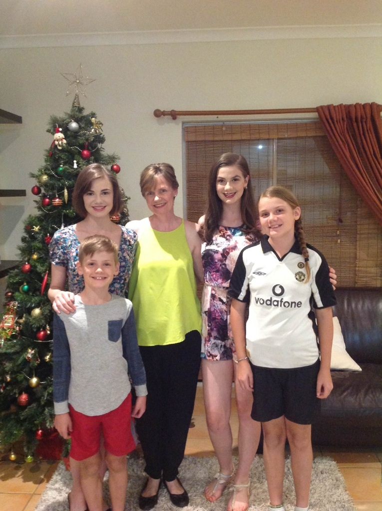 Olga White with her children Connor (8), Christina (11), Anne-Marie (19, back left) and Alexandra (16).