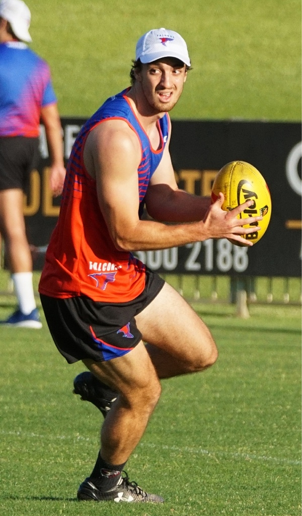 Max Duffy hits the training track. Picture: Matt Beilken