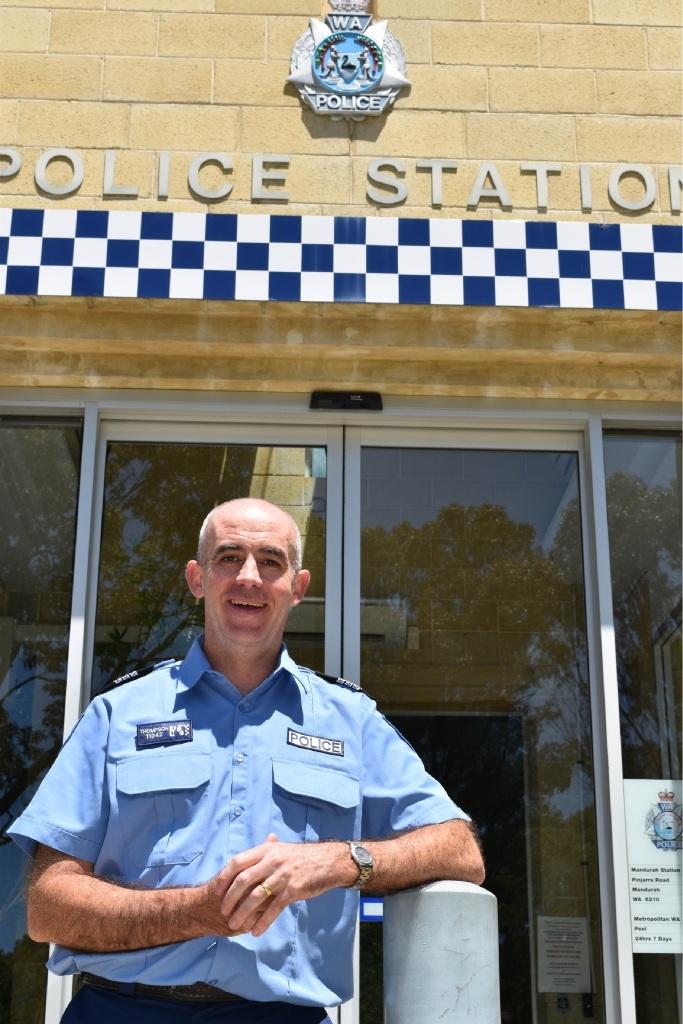 Mandurah's new officer in charge, Senior Sergeant Stephen Thompson.