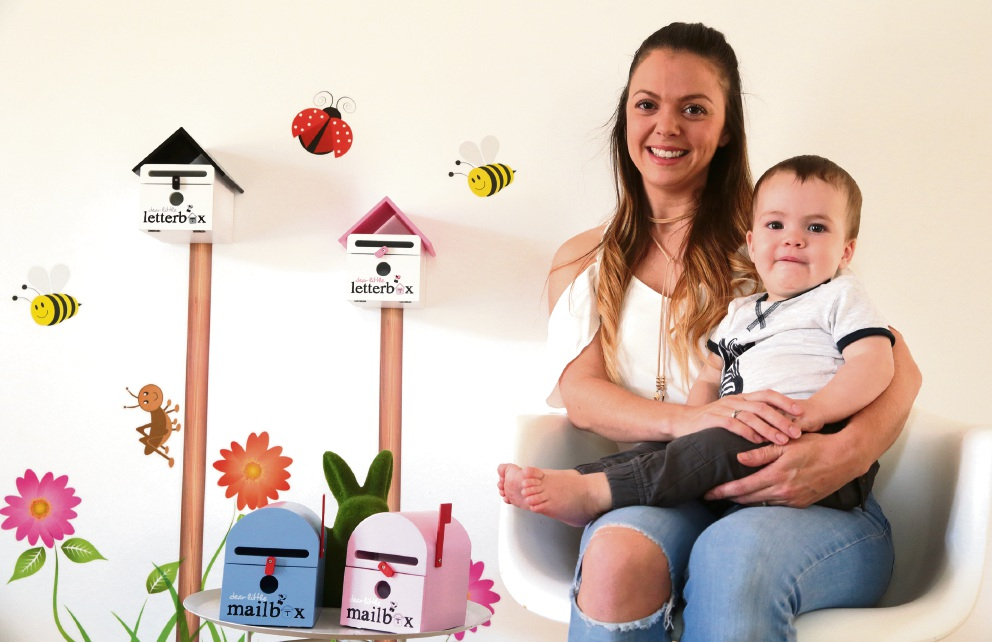 Dear Little Designs owner Samarah Graham with her son Mac. Picture: Martin Kennealey        d467207