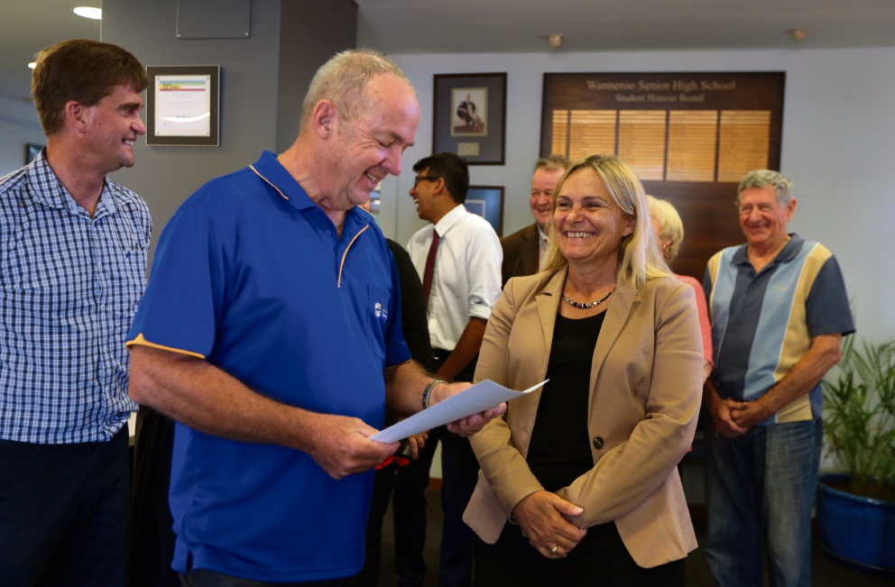 Returning officer for the District of Wanneroo Brian McNamara with new Wanneroo MLA Sabine Winton. Picture: Martin Kennealey