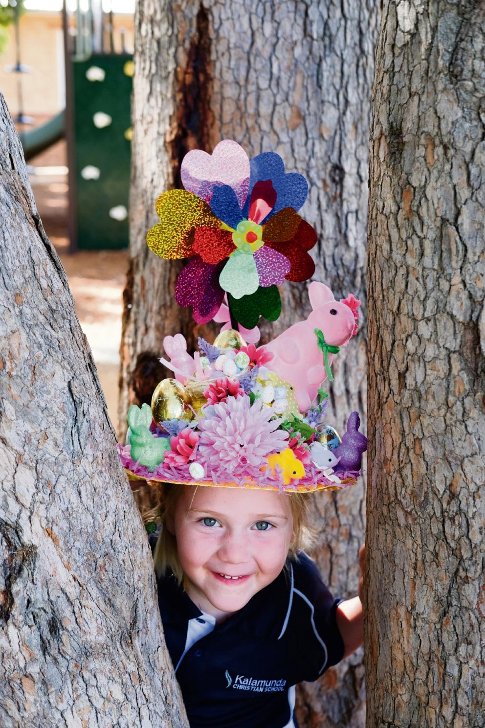 Kalamunda Christian School student Holly Allen's Eggstravagant creation.        467430p