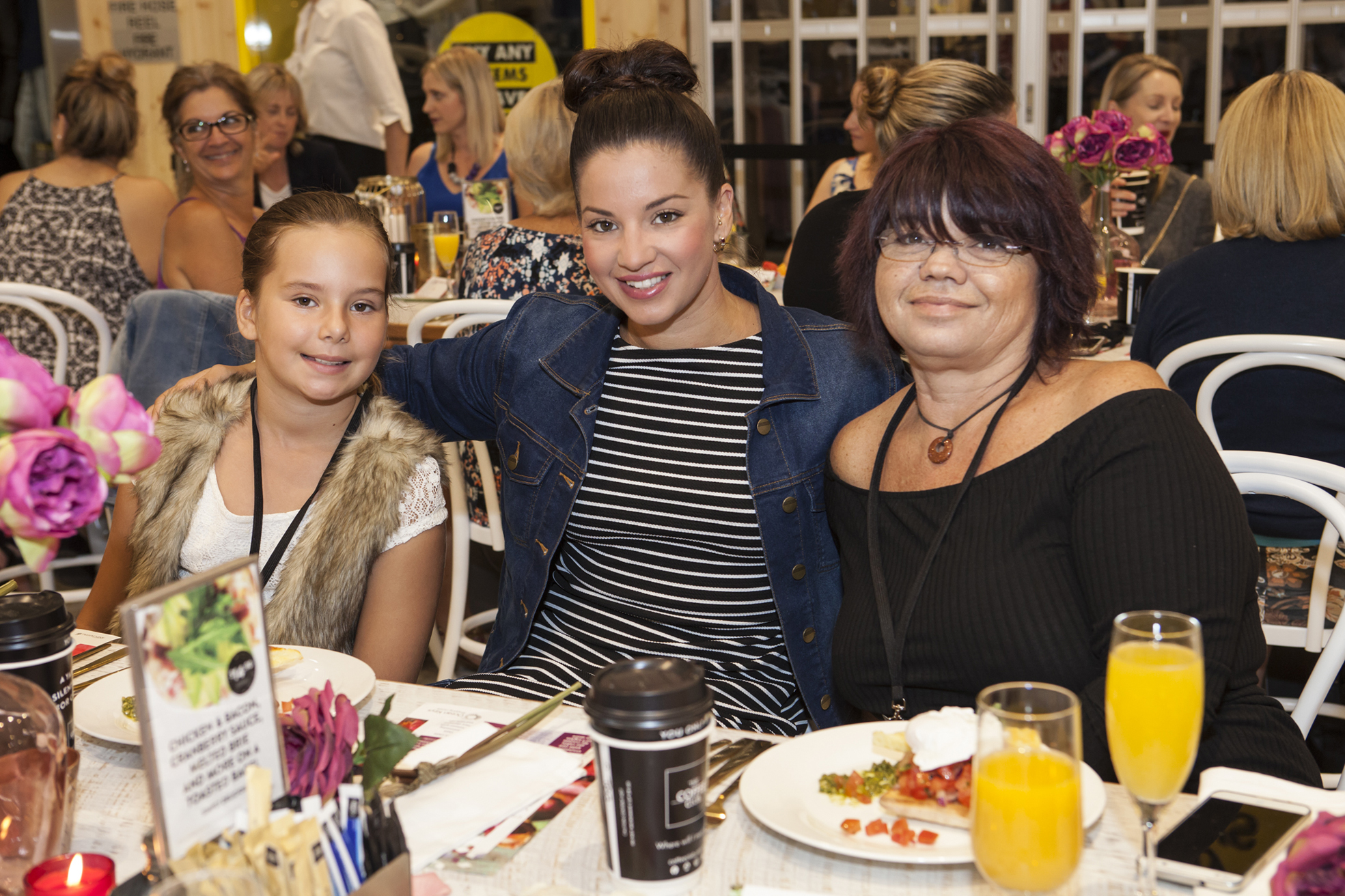 Kiah Edwards of Cloverdale with Quinns Rocks residents Tegan Beckett and Grace Venrooy. Pictures: ASCP Photography