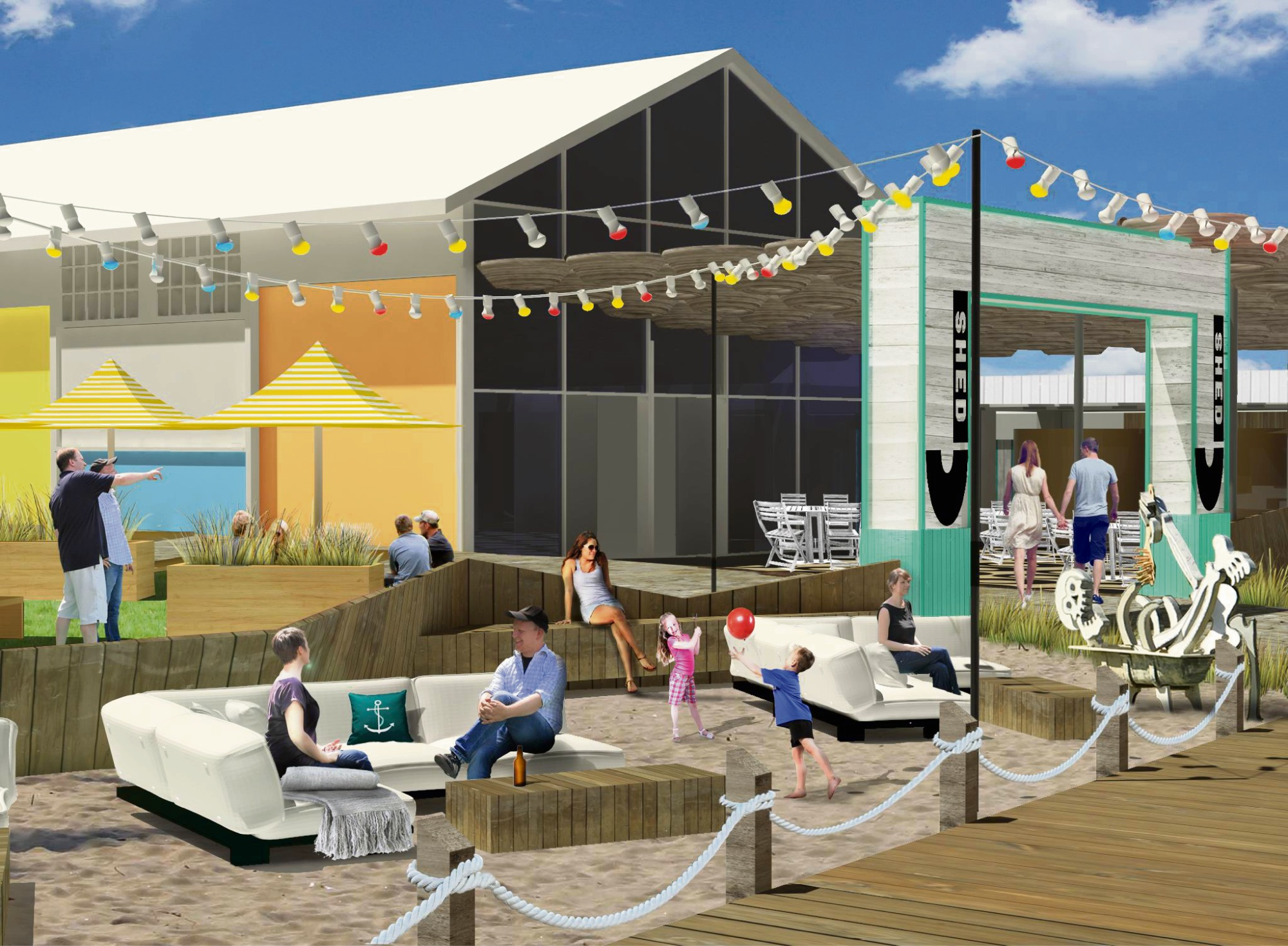 An artist's impression of Sunset Events' new venue proposal for Arthur Head.