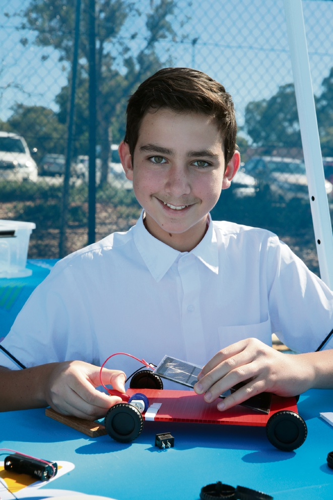 Butler College Year 8 student Matei Hepcal. Picture: Martin Kennealey d467494