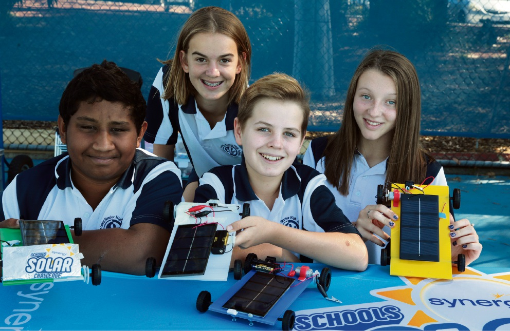 Praveen Nagarajan, Delphine Roose, Thomas Newton and Rebecca Lowther, from Duncraig Senior High School. Picture: Martin Kennealey d467494