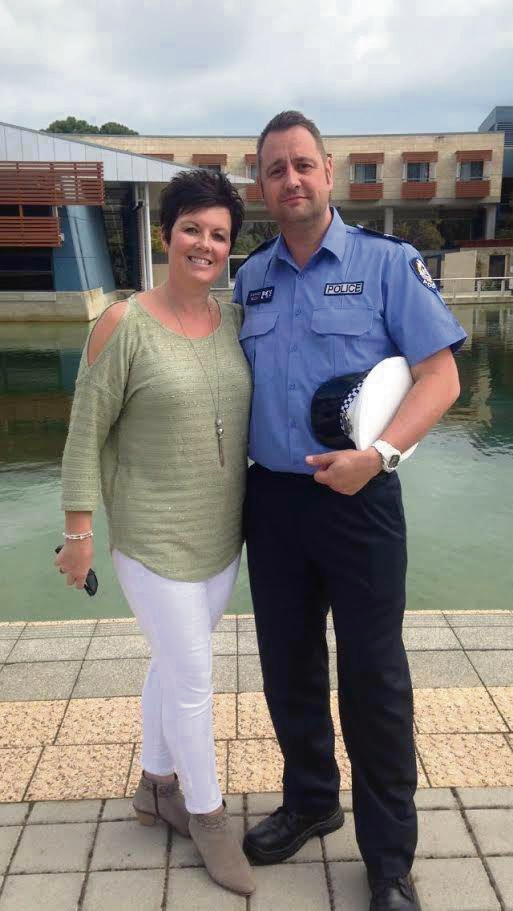 Constable Rich Barnes and his wife Jayne.