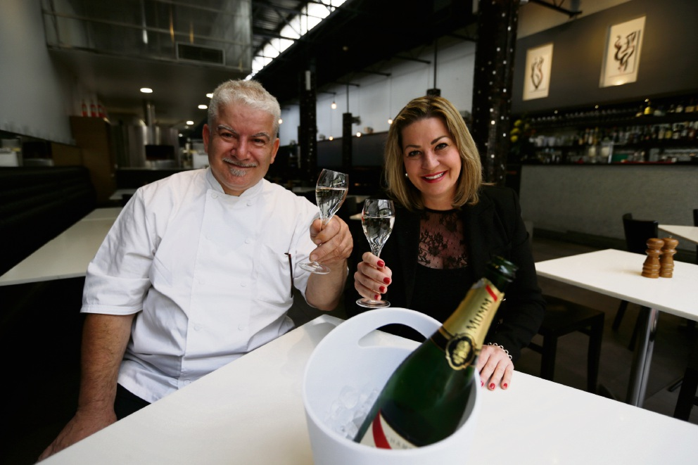 Funtastico owner Nicky Tangney with head chef/owner Fulvio Tirli.